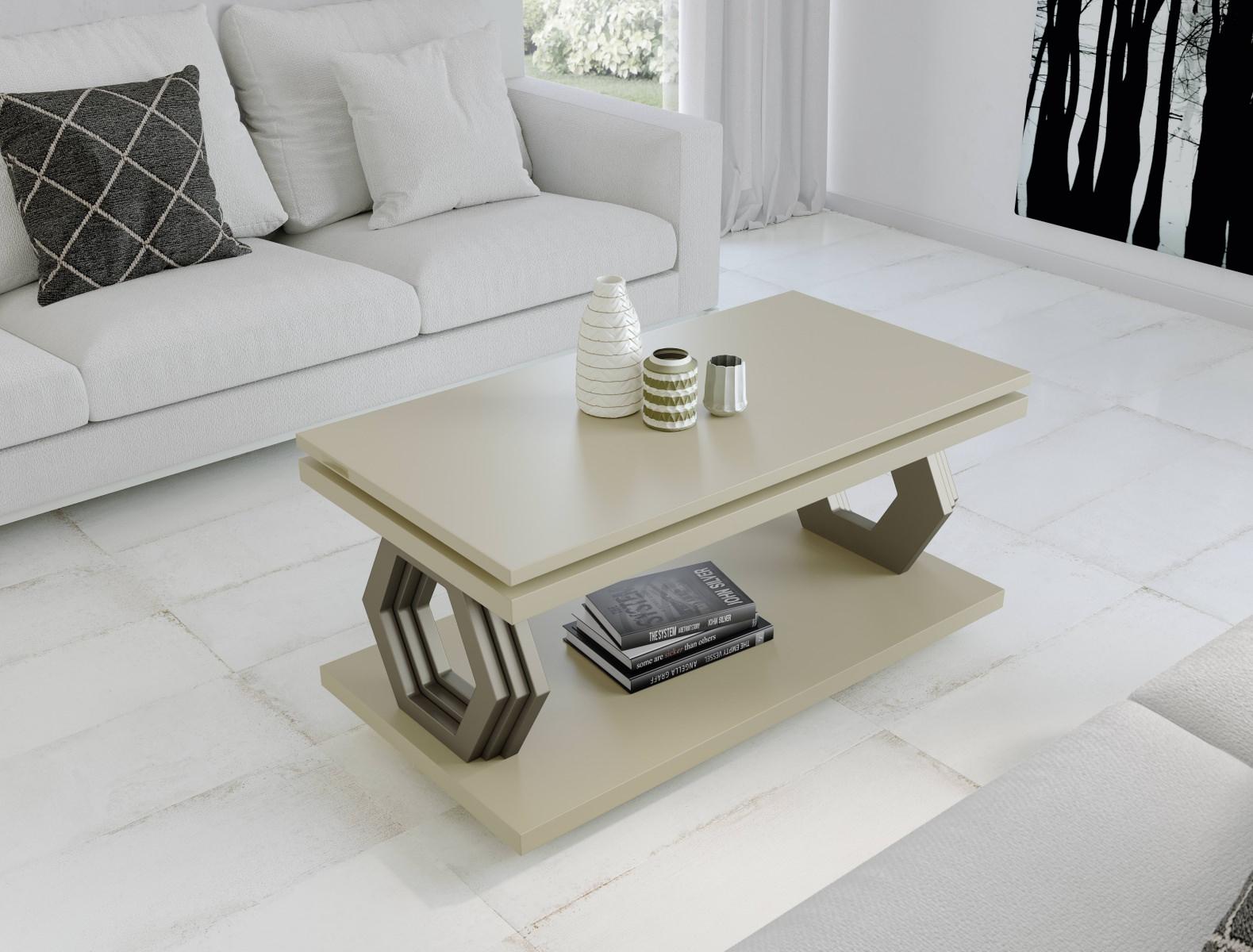 Журнальный стол NORA 2063 Capuccino/Platino Disemobel